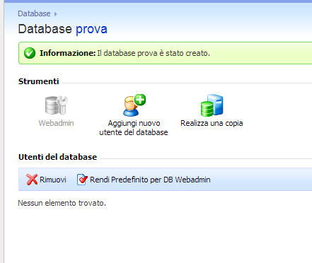 Un database per il sito? Ecco come crearlo in pochi minuti