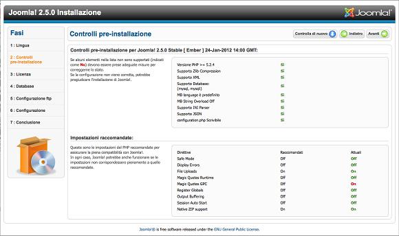 Joomla: requisti hosting e installazione in punta di clic
