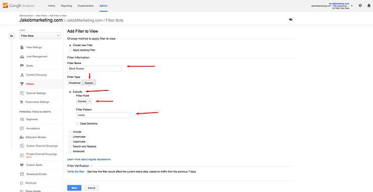 filtro spambot per nazione