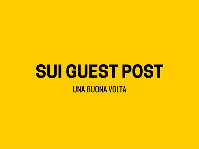 utilità dei guest post