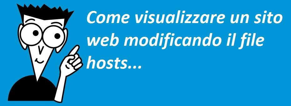 Come visualizzare un sito web modificando il file hosts