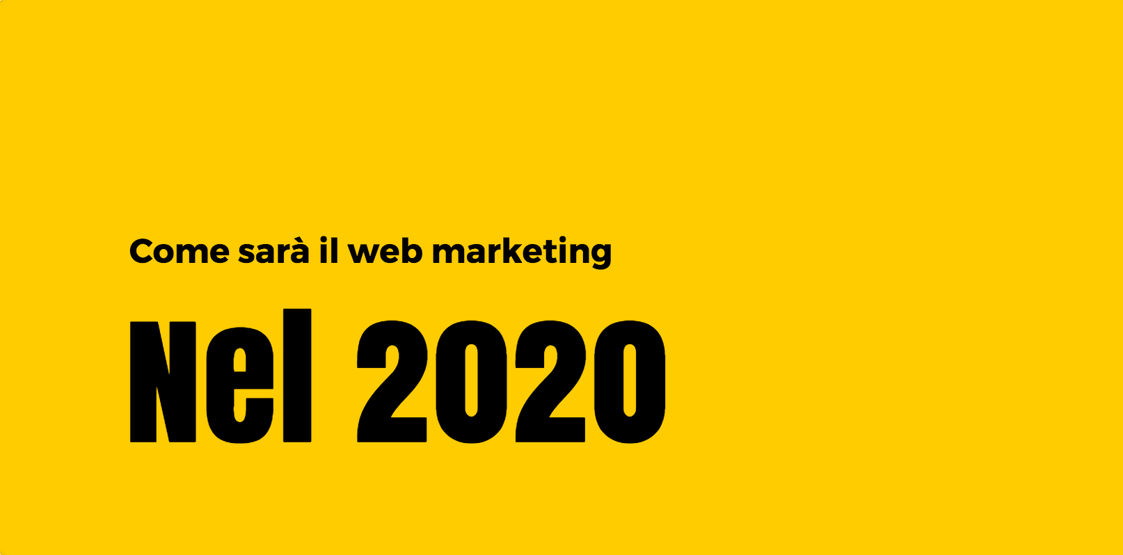 previsioni web marketing