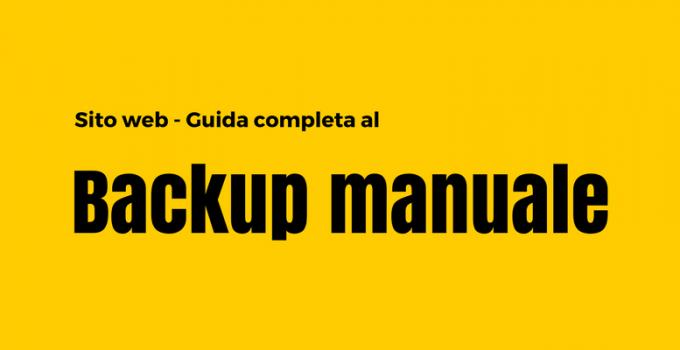 backup manuale