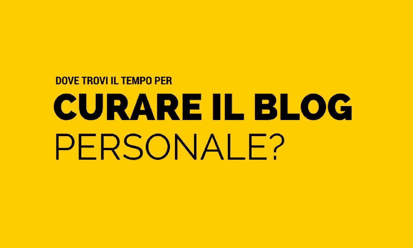 curare il blog personale