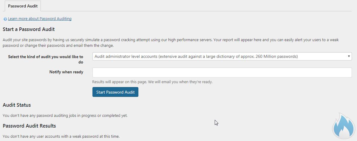 Wordfence Password Audit