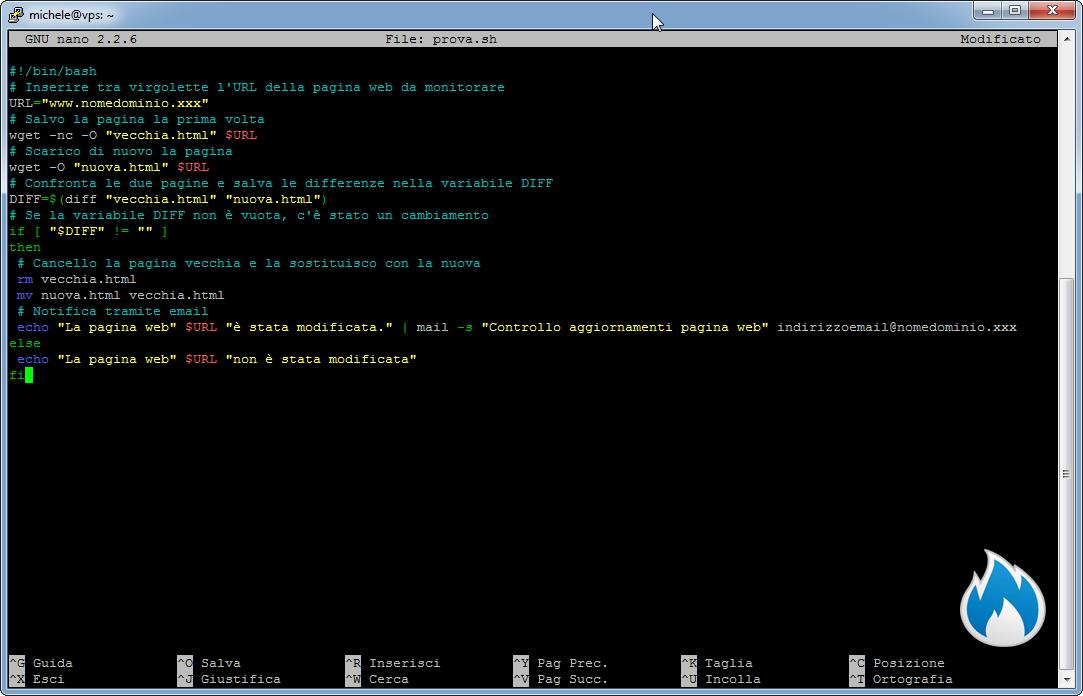 Come creare uno script shell per sapere quando un pagina web cambia