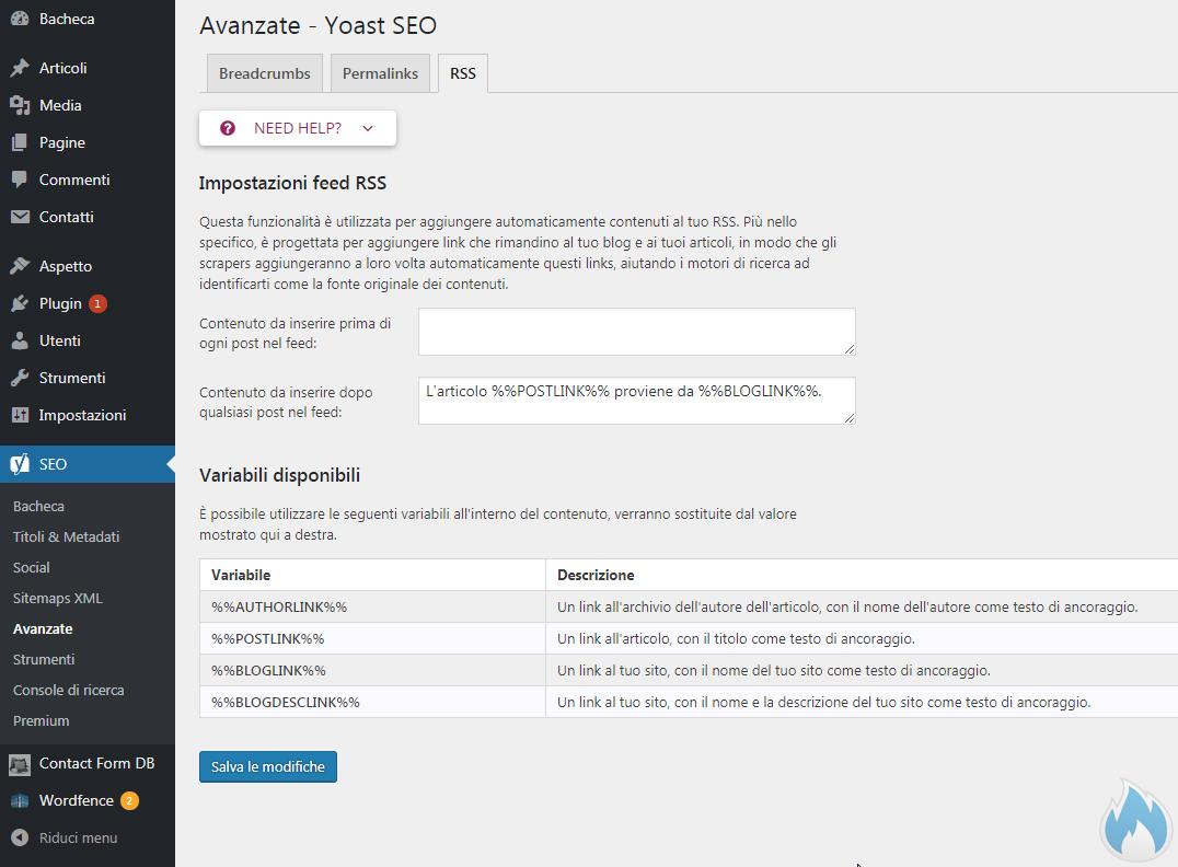 SEO Yoast Guida Completa Avanzate RSS