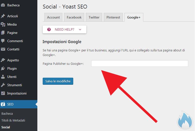SEO Yoast Guida Completa Social Google+