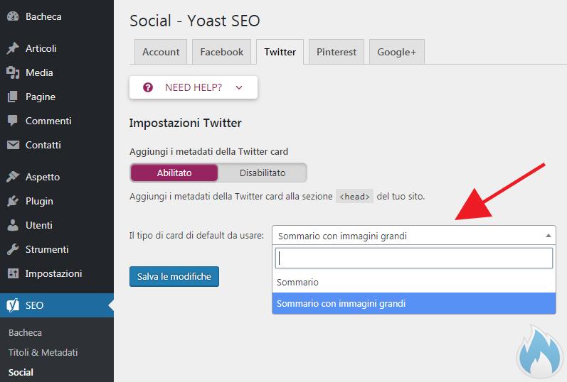 SEO Yoast Guida Completa Social Twitter