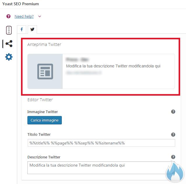 SEO Yoast Premium Guida Completa Anteprima social media Twitter