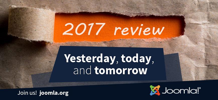 Joomla! il bilancio del 2017 e uno sguardo al futuro