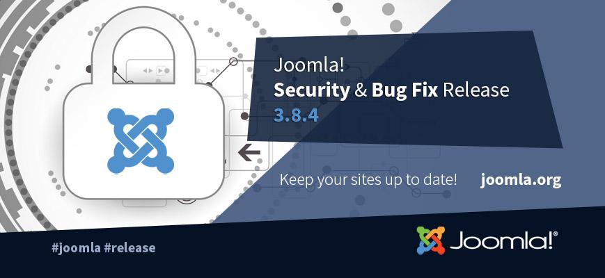 Nuova versione di Joomla!, arriva la release 3.8.4 dedicata alla sicurezza