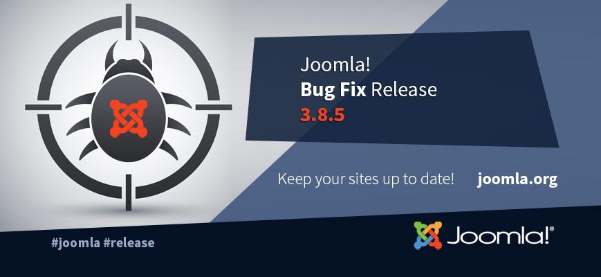 Joomla! 3.8.5 disponibile risolte alcune problematiche della versione 3.8.4