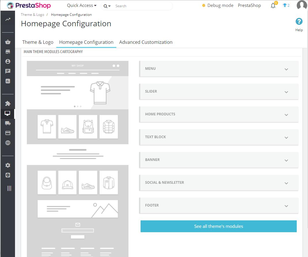 PrestaShop arriva alla versione 1.7.4.0 Personalizzazione tema