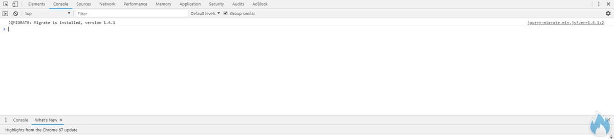 Console di Google Chrome senza risorse in http