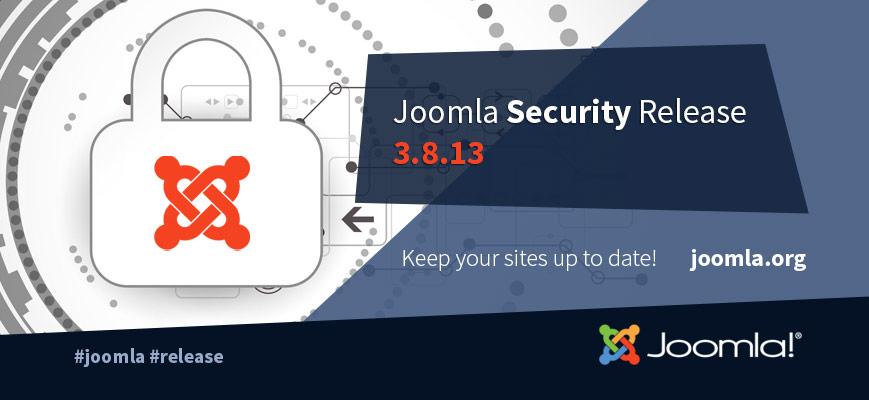 Joomla! 3.8.13 aggiornamento dedicato alla sicurezza e qualche informazione su Joomla! 3.9