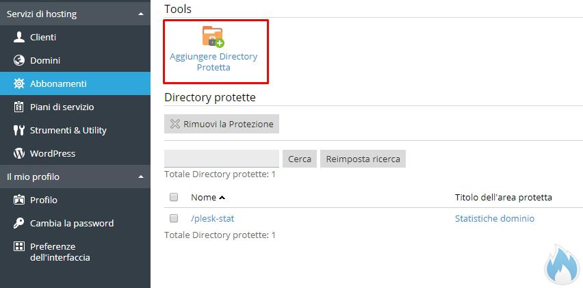 Aggiungere Directory Protetta da Password