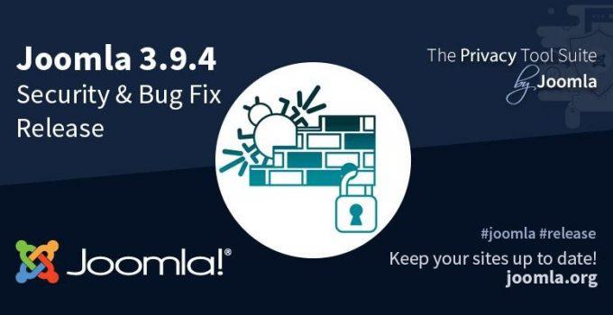 Joomla 3.9.4 importante aggiornamento sulla sicurezza