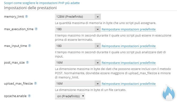 Parametri PHP Plesk Ideali
