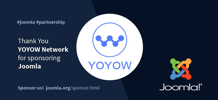 Joomla: la Fondazione YOYOW diventa Platinum Global Sponsor