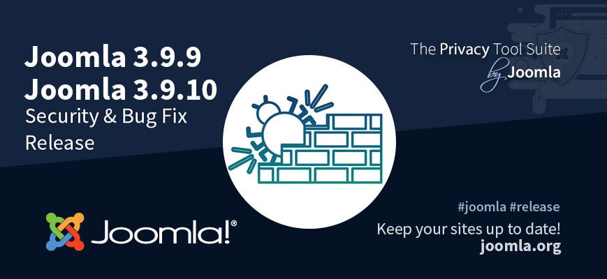 Joomla si scusa con gli utenti e rilascia la versione 3.9.10