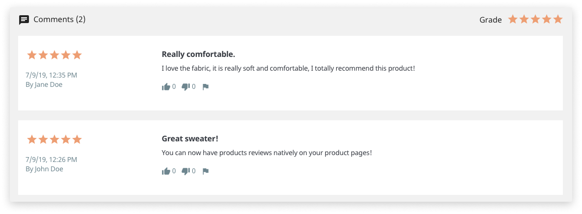 PrestaShop 1.7.6 Customer Reviews