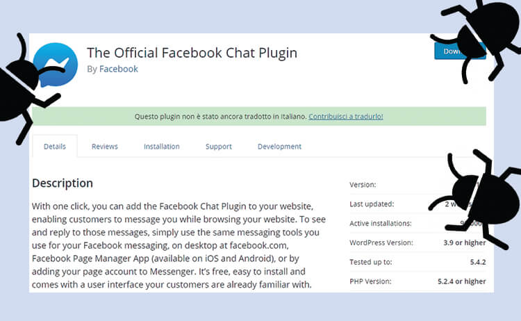 WordPress il plugin The Official Facebook Chat è afflitto da un grosso problema di sicurezza